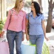 Women carrying shopping — Stock Photo #11884218