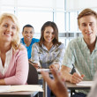 Tutor with class of students — Foto Stock