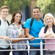 Student group outdoors — Stock Photo
