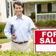 Real estate agent at work — Stock Photo #11884573