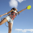 Teenage girl with frisbee — Stock Photo