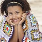 Portrait teenage girl on beach — Stock Photo #11884913
