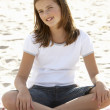 Portrait teenage girl on beach — Stock Photo
