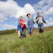 Adult group in countryside — Stock Photo