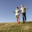 Couple in countryside — Stock Photo