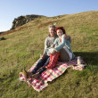 Couple on country picnic — Stock Photo #11885001