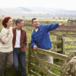 Adult group in countryside - Stock Photo