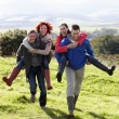Couples on country walk — Stock Photo #11885164