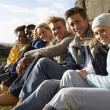 Stock Photo: Young adults in countryside