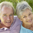 Portrait of senior couple — Stock Photo