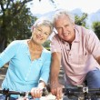 Senior couple on country bike ride — Stock Photo #11885932