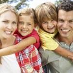 Portrait family outdoors — Stock Photo #11885955