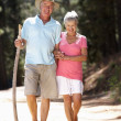 Senior couple on country walk — Stock Photo #11885982