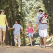 Family on country walk — Stock Photo #11886020