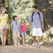 Family on country walk — Stock Photo #11886022
