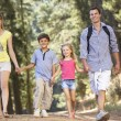 Family on country walk — Stock Photo #11886024