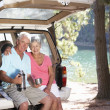 Senior couple on country picnic — Stock fotografie