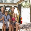 Young family on day out in country — Stock Photo