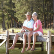 Senior couple fishing - Photo