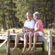 Stock Photo: Senior couple fishing