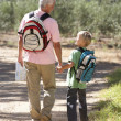 Senior man and grandson on country walk — Stock Photo #11886161