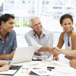 Mixed group in business meeting — Stock Photo #11886433