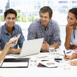 Mixed group in business meeting — Stock Photo #11886437