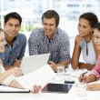 Mixed group in business meeting — Stockfoto #11886439