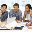 Mixed group in business meeting — Stock Photo #11886439