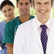 Group of hospital doctors — Stock Photo