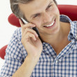 Stock Photo: Man talking on the phone