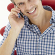 Man talking on the phone — Stock Photo