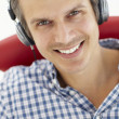 Stock Photo: Man with headphones