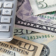Detail dollar bills and calculator — Stock Photo #11886943