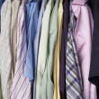 Rail of men's shirts — Stock Photo