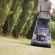 Man mowing lawn — Stock Photo #11886996