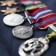Foto Stock: Strip of medals