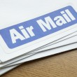 Air mail documents for despatch - Stock Photo