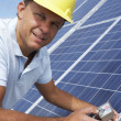 Man installing solar panels — Stock Photo #11887115
