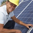 Man installing solar panels — Stock Photo #11887118