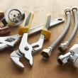 Plumbing tools and materials - Stockfoto