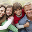 Family outdoors — Foto Stock