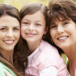 Stock Photo: 3 generations Hispanic women