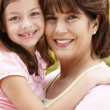 Hispanic grandmother and granddaughter - Foto Stock