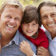 Stock Photo: 3 generations Hispanic men