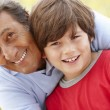 Hispanic grandfather and grandson — Stock Photo