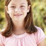 Portrait Hispanic girl outdoors — Stock Photo