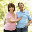 Foto Stock: Senior Hispanic couple outdoors