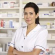Portrait American pharmacist at work — Stock Photo #11887822