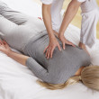 Woman having Shiatsu massage - Stockfoto